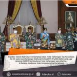 Inspektur Daerah dampingi Sultan Kutai Kartanegara Ing Martadipura Ke-XII menerima Kunjungan Silaturahmi DANREM 091/ASN