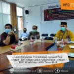 Inspektur pimpin langsung Rapat Koordinasi Rencana Aksi Tindak Lanjut Laporan BPK-RI terhadap LKPD 2019