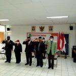 Inspektur bersama pejabat struktural mengikuti Upacara Peringatan HUT. Kemerdekan Republik Indonesia Ke-75 Tahun 2020