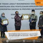 Inspektur wakili Pemkab. Kukar Terima Penghargaan Progres Penyelesaian Tertinggi TLRHP BPK Semester I/2021